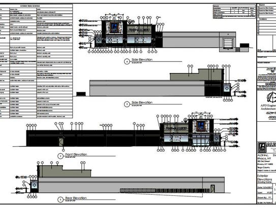 The renderings for ALDI's expansion on Third Street,