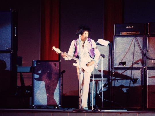 Hendrix performs at the Hollywood Bowl in Hollywood,