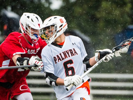 Palmyra's Pete Robertson fights against Cumberland