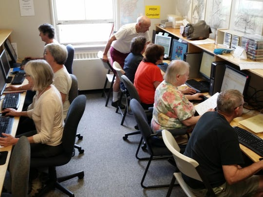 Updates during 2015 made for a total of 13 computers at the Vermont Genealogy Library in Colchester. WiFi is also available.