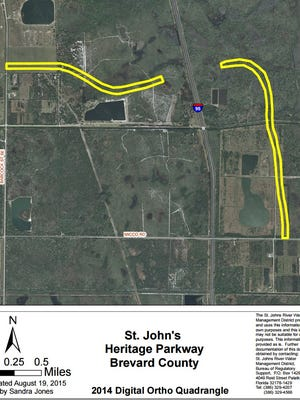 A group of developers and the city of Palm Bay have applied for an environmental permit to build connector roads to a new interchange for the St. Johns Heritage Parkway.