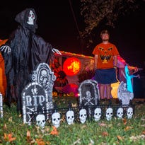 Halloween display lights up Hendersonville