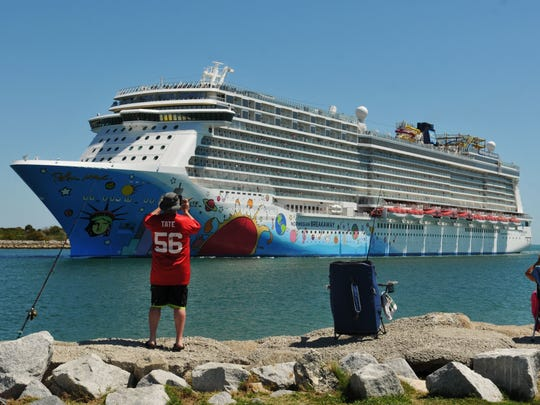 The Norwegian Breakaway is one of the regular port-of-call ships at Port Canaveral. The ship made 22 visits to Port Canaveral in the first 10 months of the port's current budget year.