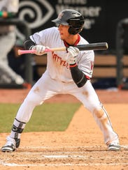 Isan Diaz leads the Timber Rattlers with 40 RBIs this