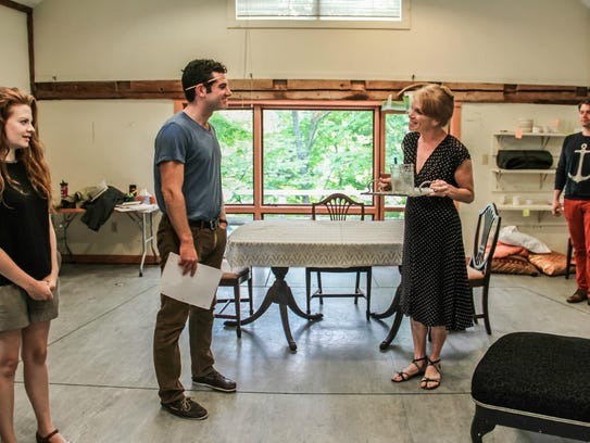 """The cast of """"The Glass Menagerie,"""" shown at a rehearsal"""
