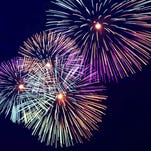Getty Images Join Kensington Metropark at 10:10 p.m. at Kent Lake for a fabulous fireworks display today. Colorful fireworks on the dark dlue sky background