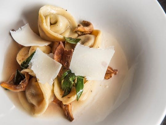 Tortelli Chanterelles with garden endive and shaved gran padano at The Fifty First Kitchen and Bar in West Nashville.