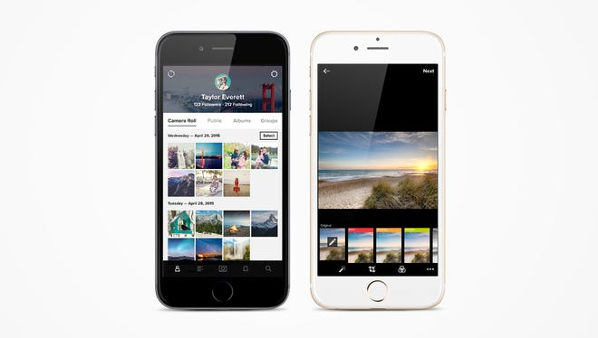Flickr's redesigned photo app.