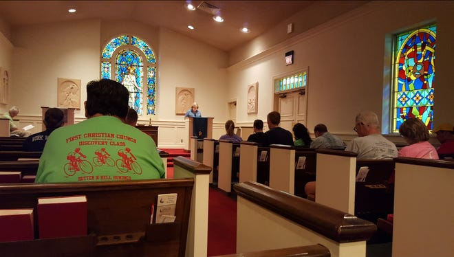 """First Christian Church will present the program, """"Christmas Eve,"""" during two Dec. 24 services, at 6:45 p.m. and 11 p.m. Communion will be served."""