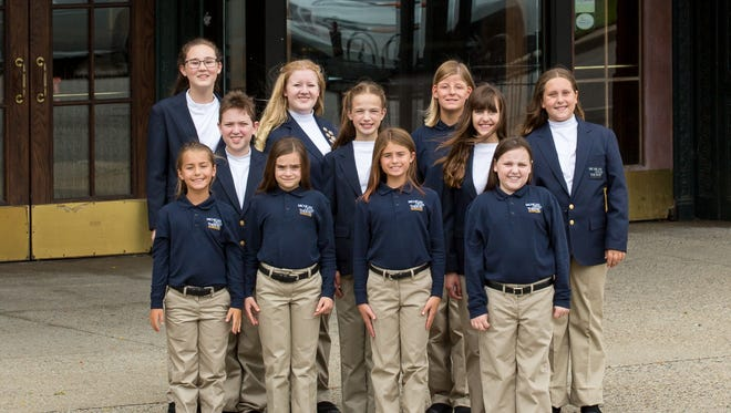 The Children's Chorus features 11 performers from Birmingham and Bloomfield Hills, including Brooke Bugajewski, Noah Costakes, Sadie Douglass, Emily Johnson, Cosette Keil, Molly Levin, Rachel Miltimore, Emma Palmer, Ava Roessler, Kevyn Roessler and Anna Schultz.
