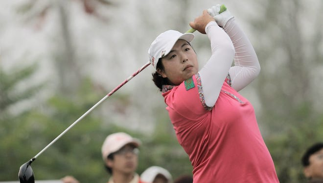 Shanshan Feng of Chin during the third round of the Reignwood LPGA Classic.
