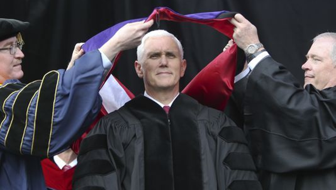 In protest, students walk out on Mike Pence's Notre Dame commencement speech