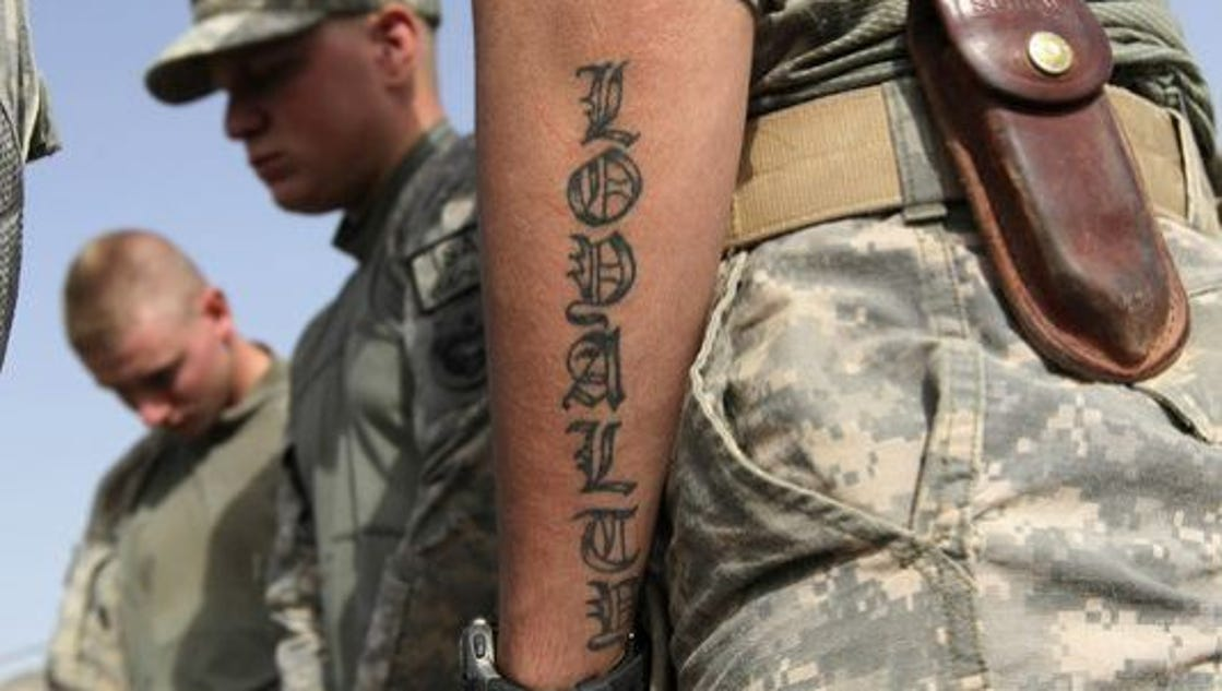 Us army making big changes to tattoo policy for Army tattoo policy wrist