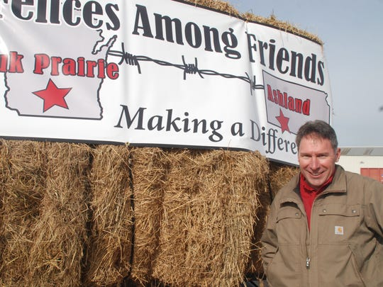 "Sauk City farmer Joe Keller organized the ""Fencing Among Friends"" effort after hearing about how cattle producers in the Great Plains were devastated by wild fires. Community giving exceeded his expectations as he saw a convoy of help leave town this week."
