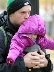 Nicholas Cunningham of South Royalton and his daughter