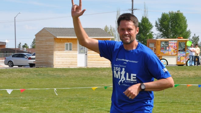 Justin Osmond has embarked on a 250-mile run from Ephraim to St. George to generate funds that go toward fighting hearing loss.
