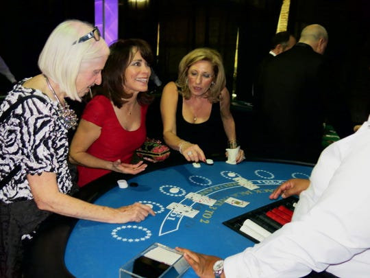 The event includes blackjack, roulette and craps (with