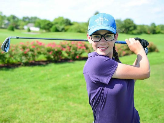 Sussex Academy golfer Hannah Lydic was selected to