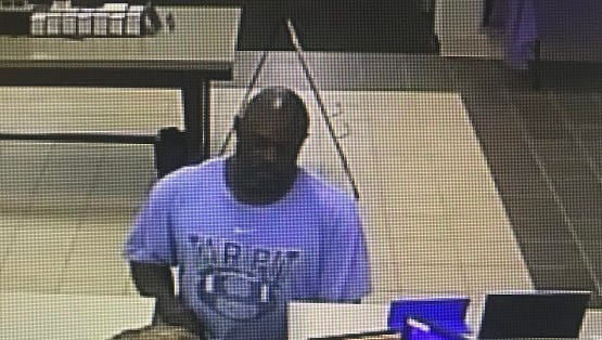 Asheville Police released this photo of the suspect in a May 16 bank robbery at the SECU.