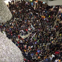 Protesters gather at Mall of America