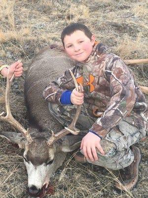 Kieth Wilson, 10, got this 5x4 mule deer near his uncle's ranch.