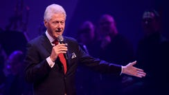 Former president Bill Clinton speaks during the Hillary