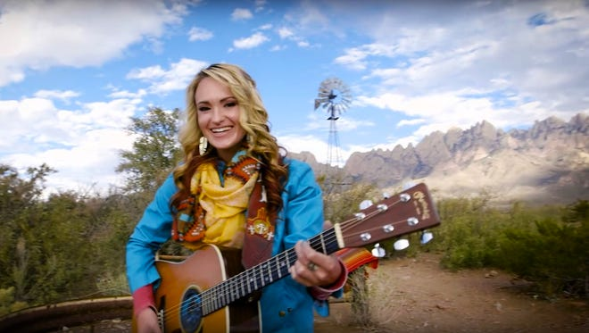 """A screenshot of the regional Emmy-nominated music video """"Las Cruces"""" performed by Bri Bagwell."""