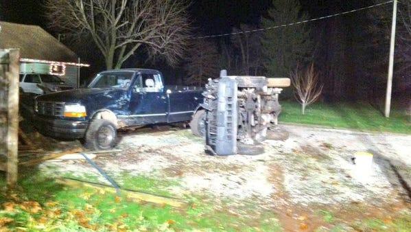 Police responded to a car crash Thursday.