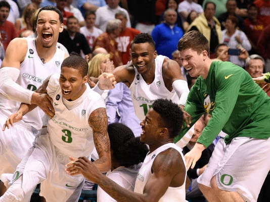 NCAA Basketball: Pac-12 Conference Tournament-Oregon vs Utah