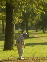 Ben Hargis hits a shot during the 2008 Deep South Four-Ball tournament at Alexandria Golf and Country Club. The Deep South was one of the oldest and most prestigious match play tournaments in the South.