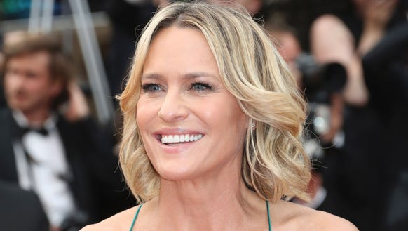 Robin Wright walks the red carpet at Cannes Film Festival