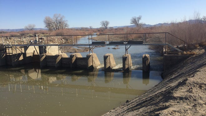 The Yerington weir was the site of a sediment removal project recently undertaken by the Walker River Irrigation District.