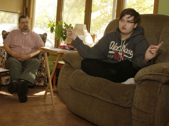 Cody Zitek, a student at West High School who is transgender, is raising awareness about a lack of policies in the Oshkosh Area School District after he said he received a detention for being in the menÕs restroom at the school. Stan Zitek, Cody's father, talked to Oshkosh West officials once he was aware of what was happening.