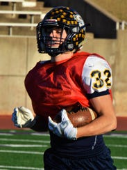 Stephenville inside receiver Gage Graham, shown here