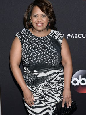 CORRECTS NAME TO CHANDRA WILSON - Chandra Wilson arrives at the ABC Network 2015 Programming Upfront at Avery Fisher Hall on Tuesday, May 12, 2015, in New York. (Photo by Evan Agostini/Invision/AP) ORG XMIT: NYBS105
