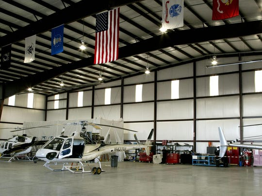Helicopters are maintained and stored in Upper Limit Aviation's main hangar at the Cedar City airport.