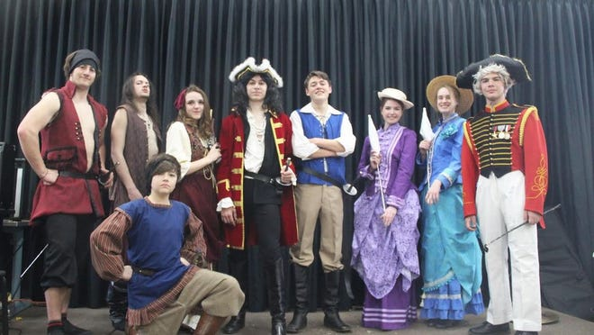 """The cast of Yreka High School's """"Pirates of Penzance"""" are excited to perform their play outdoors at Hibbard Field after COVID-19 postponed the show for four months."""