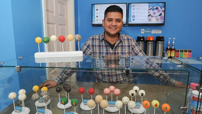 Albert Sierra opened his new Project Pop-Up business Petite Sweets, a cake pop shop, in downtown Milford this fall.