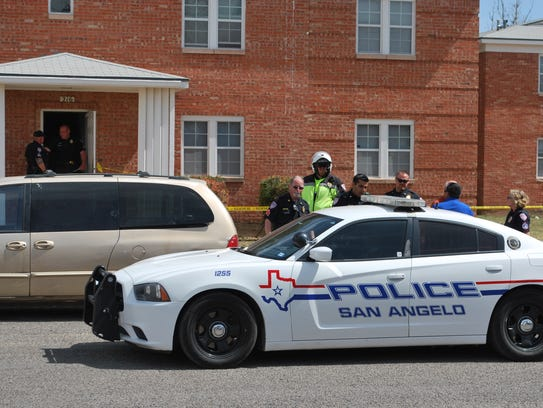 Officers with the San Angelo Police Department respond