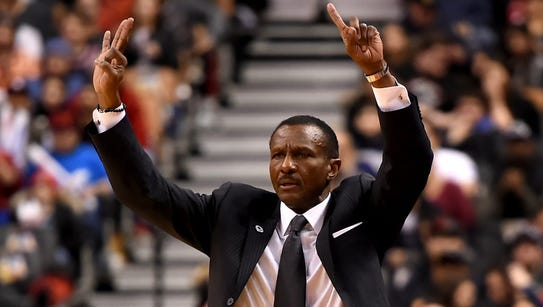 Toronto coach Dwane Casey has a counter point to Pacers