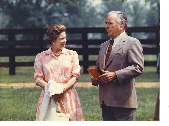 Queen Elizabeth II visited Warner Jones in 1986 on Hermitage Farm in Oldham County.