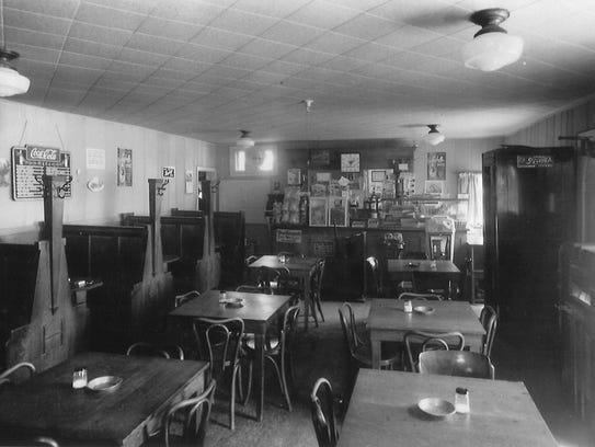 Airport Inn dining room, undated photo.