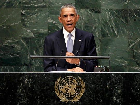 President Obama addresses the United Nations General