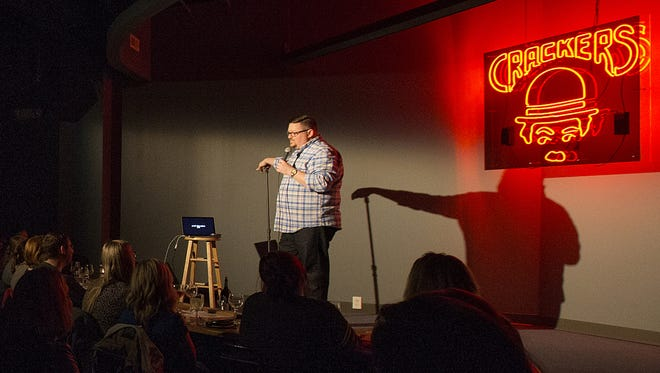 Comedian Jeff Bodart performs at the new Crackers Downtown, 207 N. Delaware St.