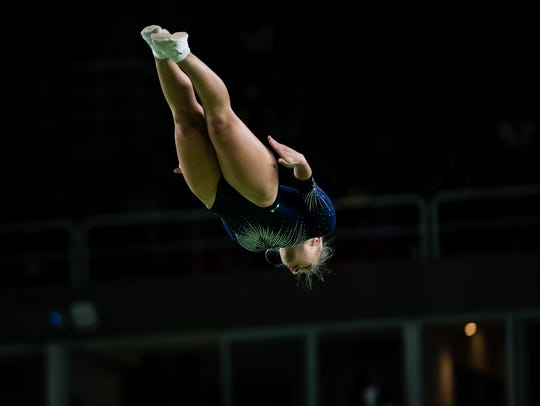 Nicole Ahsinger competes in the 2016 Olympic Games