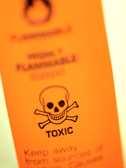 Toxic warning label
