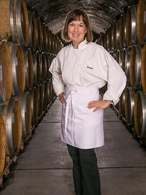 Kristine Schug, winery chef at her family's winery.