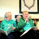 At Juniper Village at Lebanon, residents and staff celebrated St. Patrick's Day for an entire week. The celebration started with a piano concert by Karl Hausman, who played Irish tunes. On March 17, Juniper's Joyful Noise Singers, back row, from left, Julie Kitsock, Mary Lou Edwards, Joyce Hissner, Florence Albertson, Adelene Stoddard, front row from left, Anna Mae Moyer, Mabel Siegfried, Elizabeth Podjed and Joyce Mease presented their Salute to Ireland. The chorus is made up of residents from all areas of Juniper Village, including independent living and personal care residents. Everyone played instruments and sang 'McNamara's Band.' A dinner, featuring lamb stew, Irish soda bread, and Irish apple cake for dessert, was held for family and friends following the show.