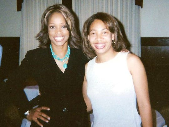 Pam Oliver (left) is one Greene's biggest role models. Both FAMU grads cover football on a national level.