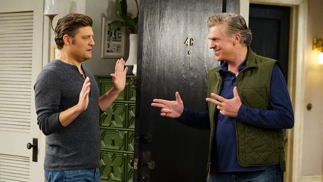 """Chip (Jay R. Ferguson) tries to find a loophole to """"honoring thy father"""" when his overbearing dad (Christopher McDonald), Ron, decides to surprise him with a visit. Michael Hobert wrote this episode for the new CBS sitcom."""